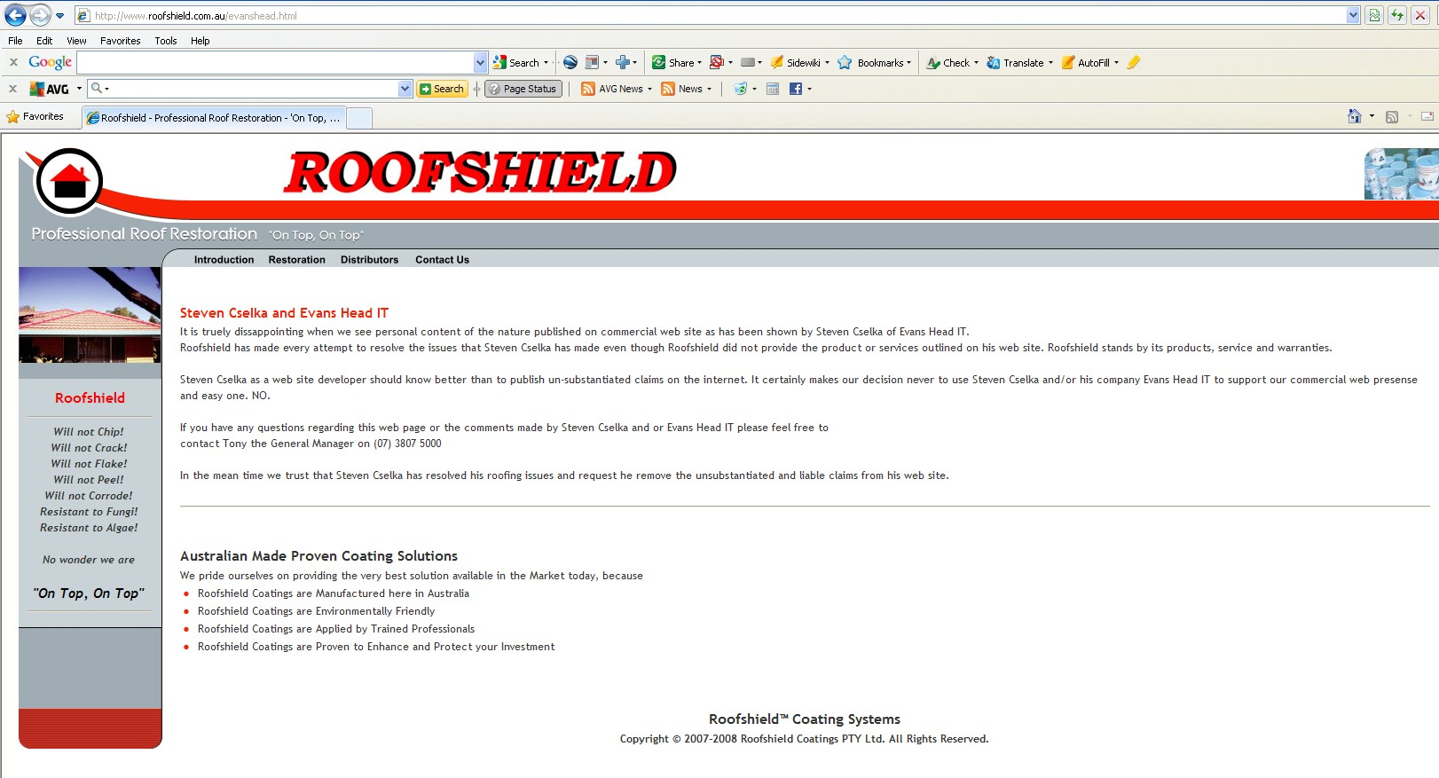 Roofshield Roof Restoration Reviews Home